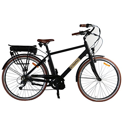 E Retro Mid Drive e Bike w/ LCD Display Screen & Headlight 250 Watt Bafang eBike Motor, 36v Battery & Tail Light Rack. 20 MPH Men's Hybrid Pedal Assist Electric City Bicycle w/ Shimano Components