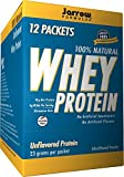 Jarrow Formulas Whey Protein Packets, Supports Muscle Development, Unflavored, 12 Count