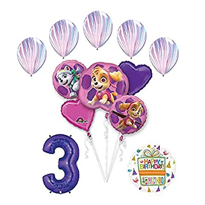 Skye and Everest 3rd Birthday Party Supplies and Balloon Bouquet Decorations: Toys & Games