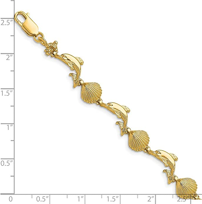 dolphin palm-mermaid-turtle-key ankle chain or bracelet chain heart