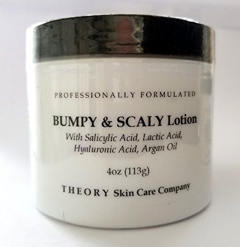 Bumpy and Scaly Lotion With Salicylic and Lactic Acid, Hyaluronic Acid and Argan Oil Skin Softening Lotion, Professionally Formulatedready to Use. Sexy Soft Skin (4oz)