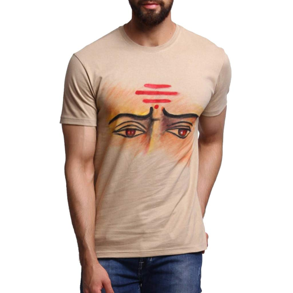 F_Gotal T-Shirt for Mens, Men's Short Sleeve Round Neck Personalit Print Shirt Big and Tall Casual Slim Fit Tees Blouse Tops