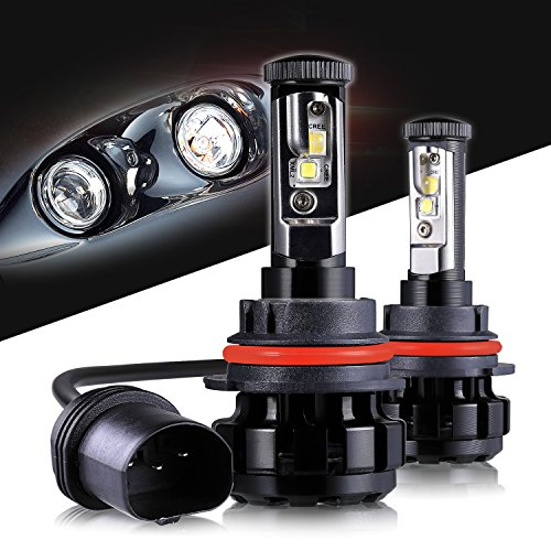LED Headlight Bulbs 9007 CREE Chips All-in-One Conversion Kit,12000 Lumen 6000K Cool White Anti-flicker Fit for High Beam Low Beam Fog Car Lights Replacement by Max5-2 Years Warranty ()