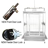 KING'S CAGES Superior Line Play Pen for Large Birds SLP 4030 PARROT CAGE 40X30X68 bird cages toy toys Large Cockatoos, Macaws (WHITE)