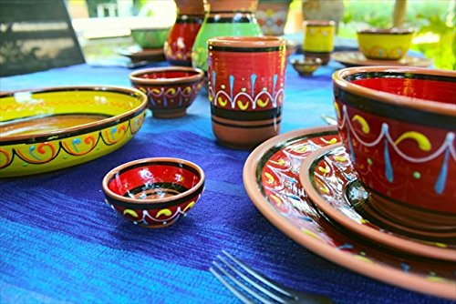 Terracotta Salsa Bowl Set Of 5 Hand Painted From Spain