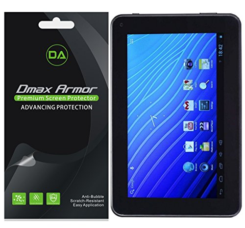 [3-Pack] Dmax Armor for Double Power DOPO 7 INCH Tablet (EM63) Screen Protector High Definition Clear Shield - Lifetime Replacements Warranty- Retail Packaging