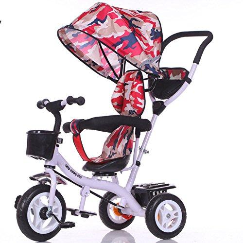 QXMEI Bicicletas para Triciclos para Niños Niños para Niñas Y Niños Autociclismo Carros para Bebés de 1 A 6 Años,White