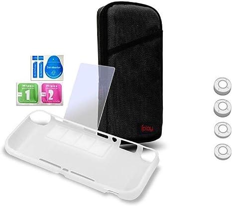 Kit De Accesorios Nintendo Switch Lite, Estuche Protector, Que Incluye Paquete De Juegos PortáTil Con 4 Cajas De Juegos, Caja De Tpu, Protector De Pantalla Templado Hd Para Accesorios De Switch Lite: