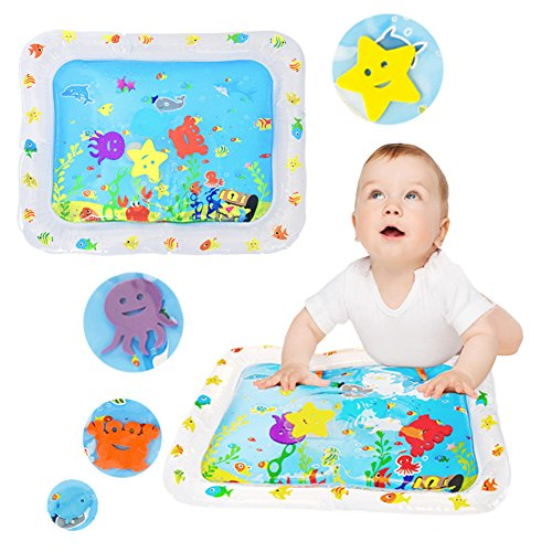 SXG Baby Water Mat, Inflatable Baby Fun Time Water Play Mat Kid Tummy Water Mat, Kid Water play Mat for Children And - Playmat Water Filled