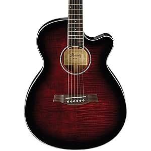 ibanez aeg240 acoustic electric guitar transparent red sunburst musical instruments. Black Bedroom Furniture Sets. Home Design Ideas