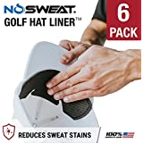 No Sweat Golf Hat Liner & Cap Protection - Prevent Hat Stains Rings | Moisture Wicking, Headband, Sweatband, Hat Saver & Protection, Prevention, Cooling Towel Effect