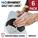 No Sweat Golf Hat Liner & Cap Protection Prevent Hat Stains Rings ✮ Moisture Wicking, Headband, Sweatband, Hat Saver & Protection, Prevention, Cooling Towel Effect