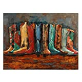 Empire Art Direct ''Line Dance'' Mixed Media Hand Painted Iron Wall Sculpture by Primo