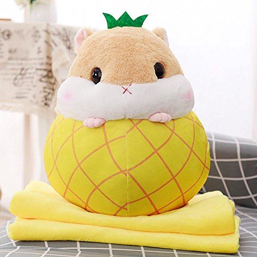 Lotus.flower Plush Fruit Hamster Furry Stuffed Animal Toys Cuddly Plush Guinea-Pig Lovely Collectible Dolls Kids Adults Snuggle Pal Ideal Gift Home Decor (Pineapple)