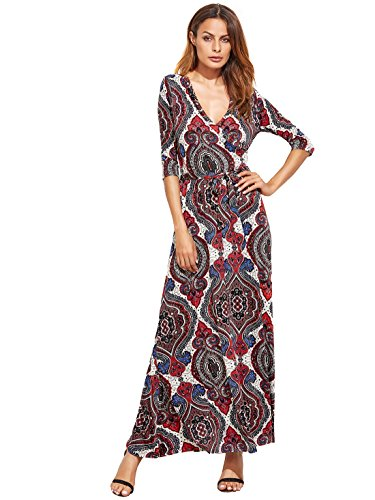 Buy belted faux wrap maxi dress - 6