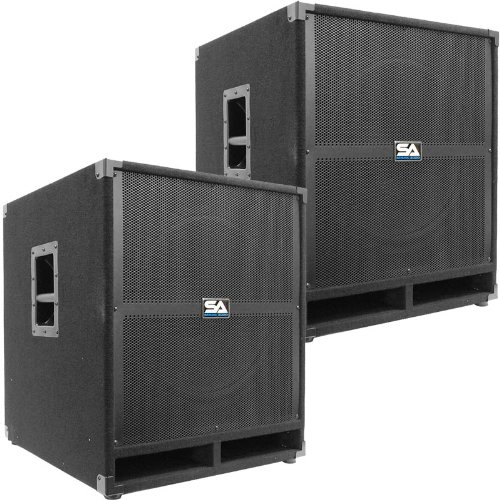 Seismic Audio - Tremor-18Pair - Pair of Powered PA 18'' Subwoofer Speaker Cabinets by Seismic Audio