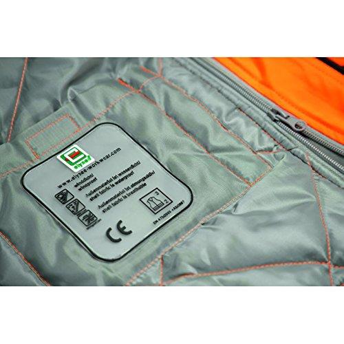 Elysee 23436-2XL Lukas Parka d'hiver haute visibilité Taille 2XL Orange Fluorescent/Noir