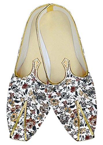 Hombres Impresión de Floral Blanco Boda Gris Zapatos INMONARCH MJ017011 dxYqad