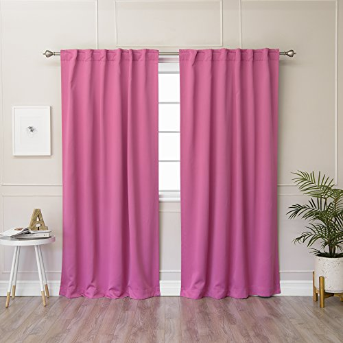 Pink And Green Curtains - 9