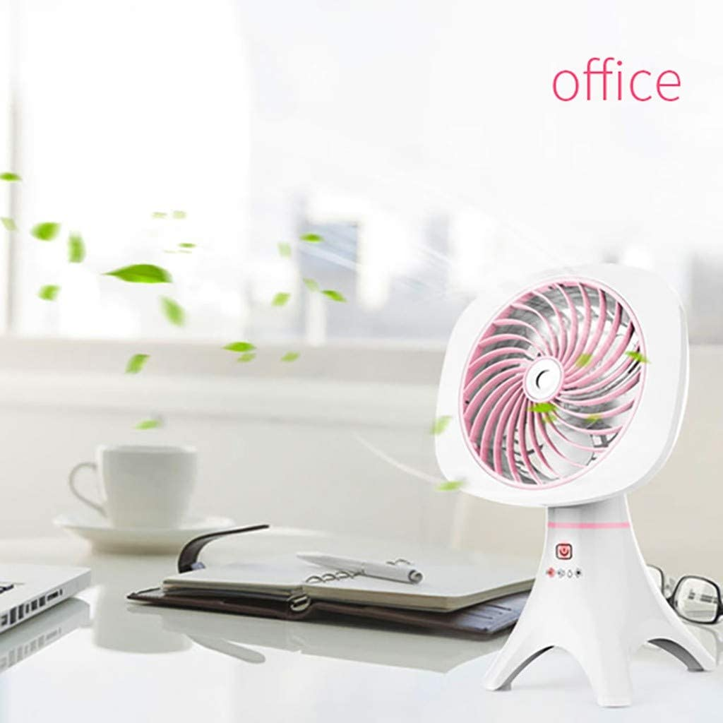 SOOTOP Mini Spray Humidification Refrigeration Fans USB Battery Rechargeable Silent Blower Cooler Desktop Personal Portable for Dorm Indoor Outdoor Office Household Traveling Camping Bedroom