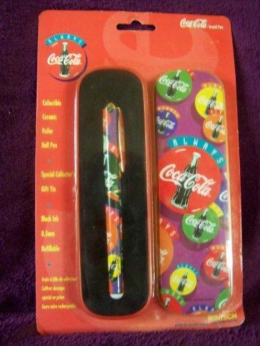 Coca Cola Collectible Ceramic Roller Ball Pen in Tin ()