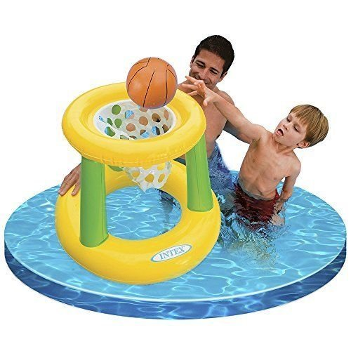 Floating Hoops Basketball Game Inflatable Beach Pool Toy, Colors May Vary