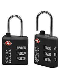 Northern Traveller Travel Sentry 3-dial Combo Lock, Black, International Carry-on