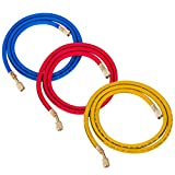 Bestauto Refrigerant Recovery Machine Fit for 21985 Plus II 1/4'' Charging Hoses Set 60''