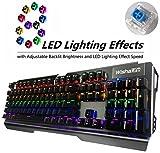 WishaLife Ergonomic LED Backlit Mechanical Gaming Keyboard with Blue...