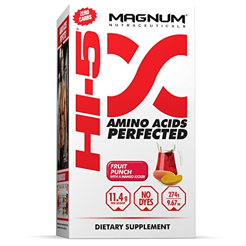 Magnum Nutraceuticals HI-5 Fruit Punch – 24 Servings – Amino Acids – Gain Lean Muscle – Reduce Fatigue – Recovery