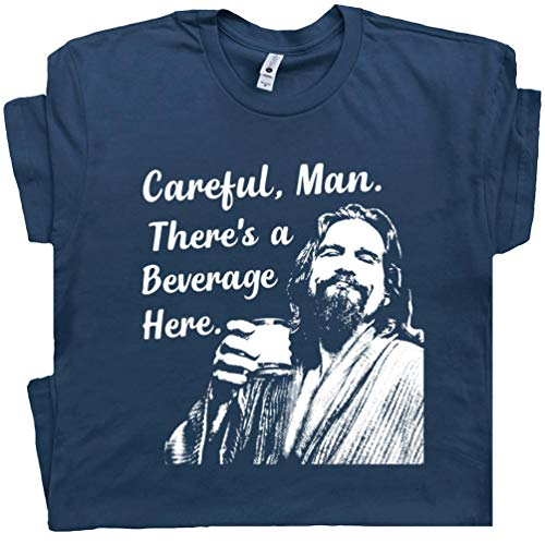 XL - Big Lebowski T Shirt Funny Movie Quote Tee Vintage 90s The Dude Abides Careful Man There