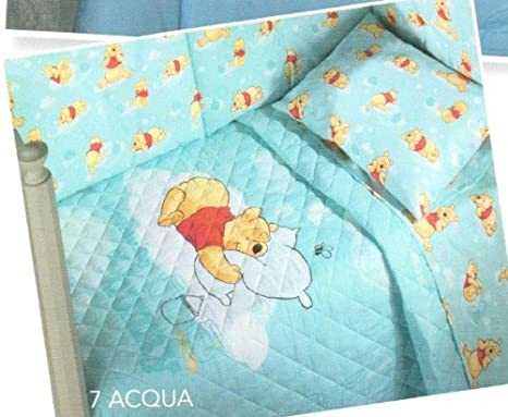 Trapunta Winnie The Pooh.Disney Winnie The Pooh Buonanotte Trapunta Con Paracolpi Lettino