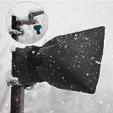 2Pcs Faucet Freeze Cover, Outdoor Winter Faucet Socks for Winter Protection ( Color : Black )