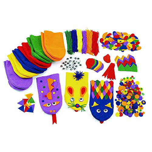Colorations Imaginary Hand Puppets Kit for 12 Classroom Activity for Kids ()
