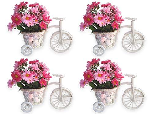 PROMOÇÃO 4 Bicicleta Flor Margarida Rosa Arranjo Artificial