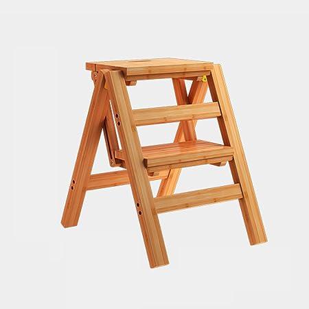 Wcs Sgabello Ladder Multifunzione Casa In Legno Massello Ikea Sedia Pieghevole Per Bambini In Provincia Spazio A Due Livelli Scala A Quattro Gradini Scala Ascendente Log Colore 40 46 90cm