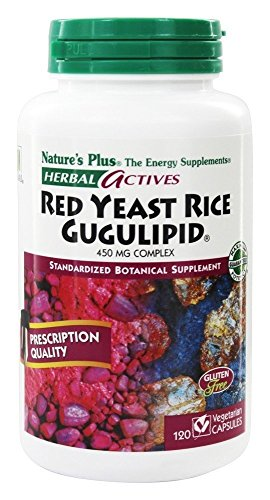 Nature's Plus - Herbal Actives Red Yeast Rice/Gugulipid 450 mg Complex, 120 VCaps