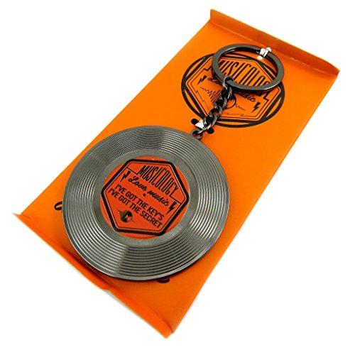 Keychain 'Musicology'black (vinyl record)- 60 mm (2.36'').