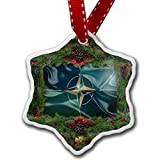 Christmas Ornament North Atlantic Treaty Organization (NATO) Flag - Neonblond