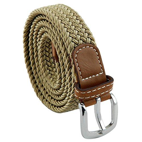 Samtree Braided Leather Skinny Elastic