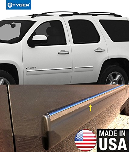 Made in USA! Works with 07-09 Chevy Tahoe Body Side Molding Top 1