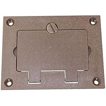 Walker 828prgfi Brn Brown Gfi Polycarbonate Floor Box