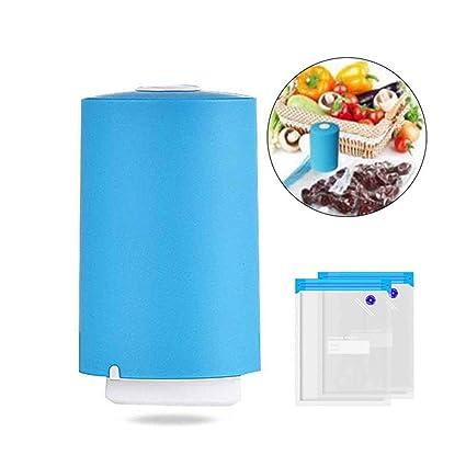 Baiwka Mini Máquina De Sellado Al Vacío, Portátil De Vacío Sellador De Alimentos Bolsa De Compresión De Viaje Bolsa De Almacenamiento De Vacío USB ...