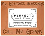Cheap ThisWear Gift Grandma Blessings Call Me Granny Natural Wood Engraved 5×7 Landscape Picture Frame Wood