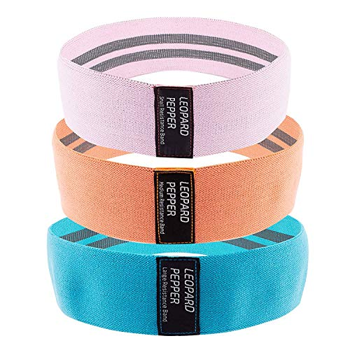 Fabric Resistance Bands Set   Hip Bands for HIIT, Yoga & Pilates   Non-Slip Exercise Bands   Travel Friendly Gym Equipment   Durable Booty Bands that Dont Snap, Pinch or Roll with Mesh Carry Bag