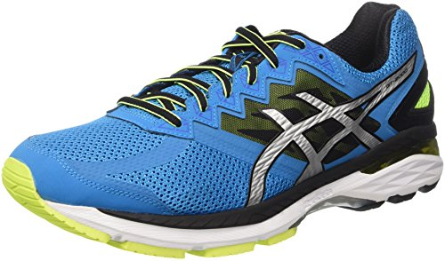 Asics Gt-2000 4, Scarpe da Corsa Uomo Blu (Blue Jewel/Black/Safety Yellow)