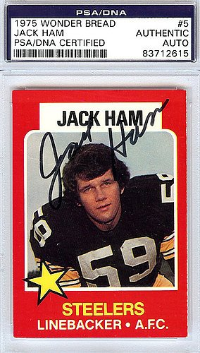 Jack Ham Signed 1975 Wonder Bread Card #5 - PSA/DNA Authentication - Autographed NFL Football Memorabilia