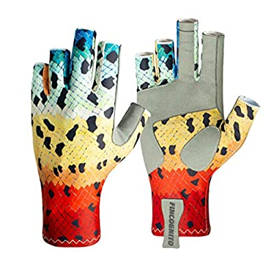 96ADRB2-LG/XL Fincognito Rainbow #2 Trout Sun Gloves -Lg/XL by Cognito Brands, Inc.