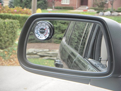Upper Bound Outside Mirror Thermometer Gauge Deg F and C Scale fits SUV Truck Car RV Boat