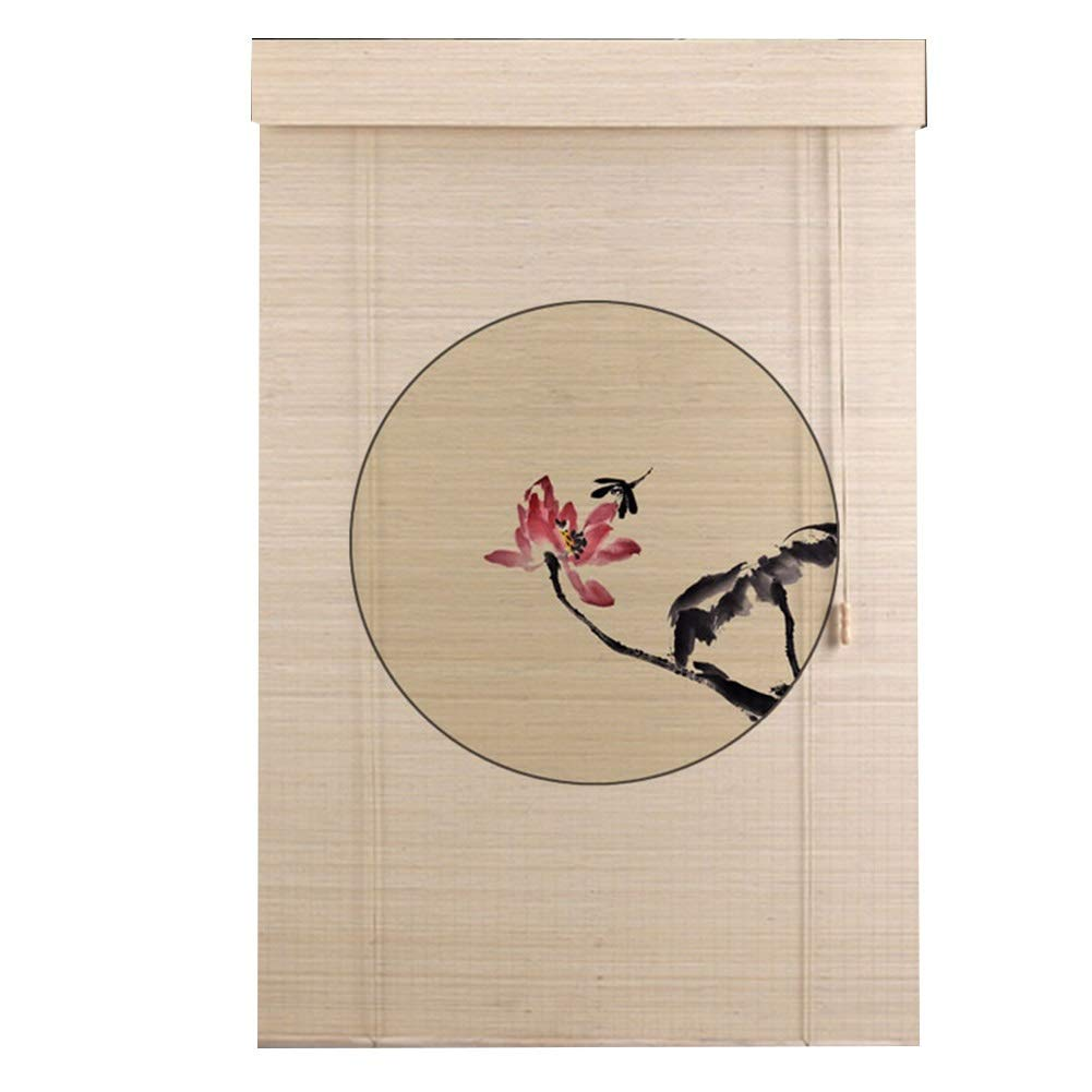 LIANGJUN 竹ロールスクリーン竹はウィンドウシェードを竹すだれ竹製カーテン背景の壁 断つ 日焼け止め 通気性 印刷 パターン レストラン カスタマイズ可能 (色 : B, サイズ さいず : 150x300cm) 150x300cm B B07QMGTSD6